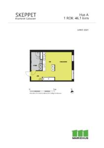 Planlösning 1 rum och kök